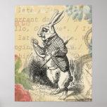 White Rabbit from Alice in Wonderland Print