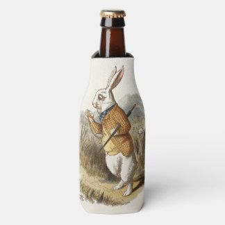 White Rabbit from Alice In Wonderland Vintage Art Bottle Cooler