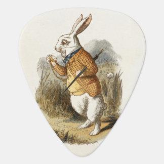 White Rabbit from Alice In Wonderland Vintage Art Plectrum