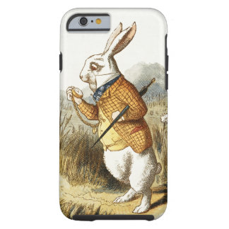 White Rabbit from Alice In Wonderland Vintage Art Tough iPhone 6 Case