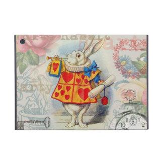 White Rabbit Hearts iPad Mini Cover
