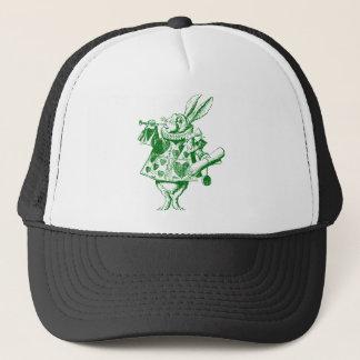 White Rabbit Herald Inked Green Trucker Hat