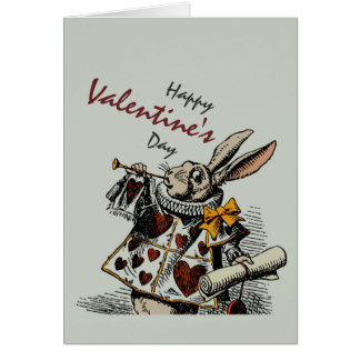 White Rabbit (in Color) CC0369  Valentine Greeting Card