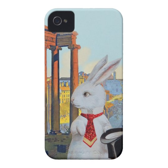 White Rabbit in Rome - Cute Vintage iphone