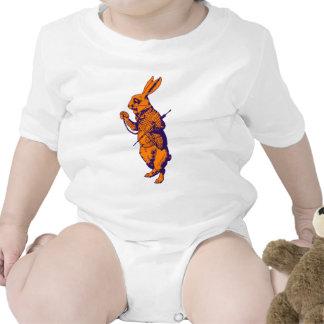 White Rabbit Inked Purple Orange Baby Bodysuits