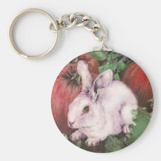 White Rabbit Keychain