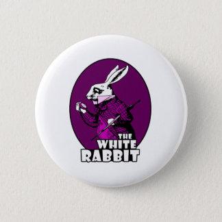 White Rabbit Logo Purple 6 Cm Round Badge