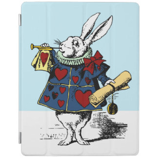 White rabbit lucky Alice  Wonderland classic book iPad Cover