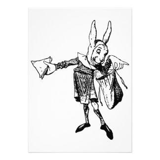 White Rabbit Messenger Inked Black Invite