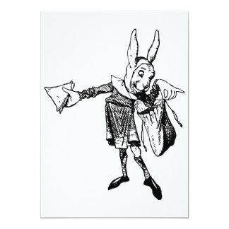 "White Rabbit Messenger Inked Black 5"" X 7"" Invitation Card"