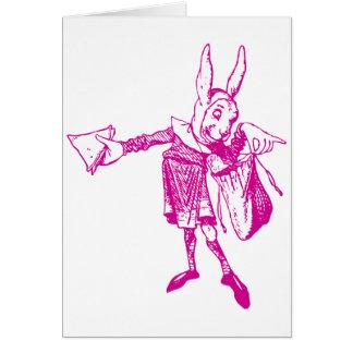 White Rabbit Messenger Inked Pink Cards