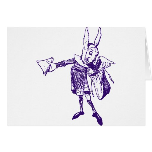 White Rabbit Messenger Inked Purple Cards