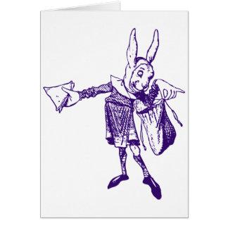 White Rabbit Messenger Inked Purple Card