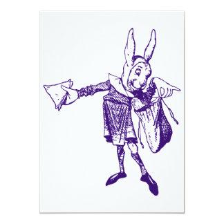 "White Rabbit Messenger Inked Purple 5"" X 7"" Invitation Card"