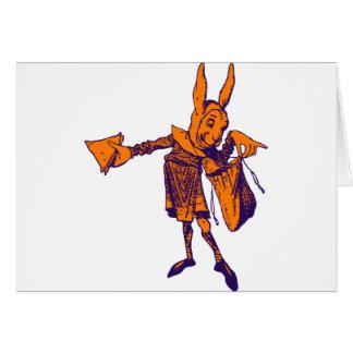 White Rabbit Messenger Inked Purple Orange Cards