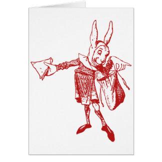 White Rabbit Messenger Inked Red Cards