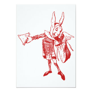 White Rabbit Messenger Inked Red Announcement