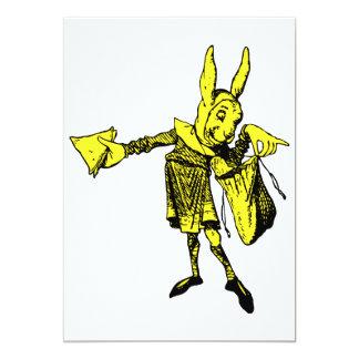 "White Rabbit Messenger Inked Yellow Fill 5"" X 7"" Invitation Card"