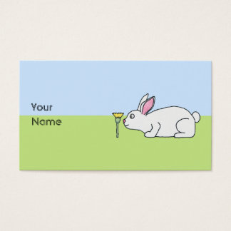 White Rabbit. On a Lawn. Business Card