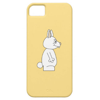 White Rabbit on Yellow Background. Case For The iPhone 5