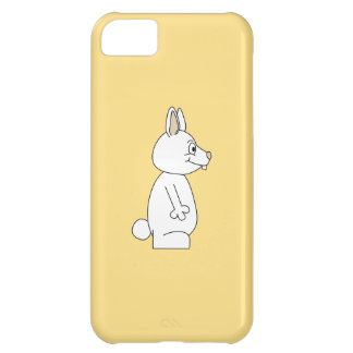 White Rabbit on Yellow Background. iPhone 5C Case