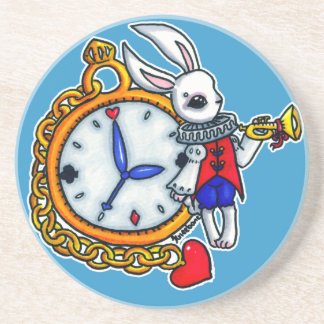 White Rabbit pocket watch Coaster