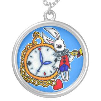 White Rabbit pocket watch Custom Necklace