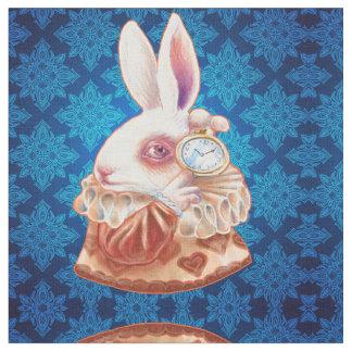 White Rabbit Pop Surrealism Illustration fabric