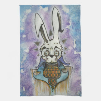 White Rabbit Portrait Tea Towel