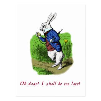 White Rabbit Post Cards