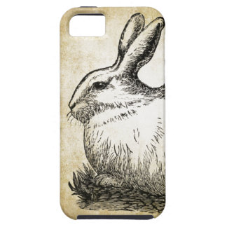 White rabbit shabby chic bunny case for the iPhone 5