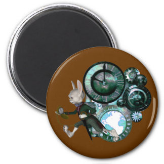 White Rabbit Steampunk Magnet