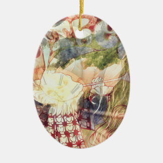 White Rabbit -- Surreal Alice in Wonderland Christmas Ornament