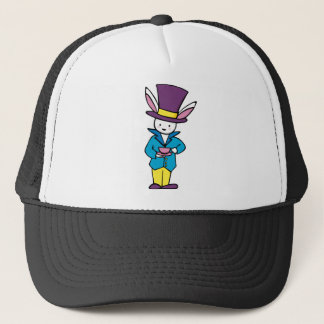 White Rabbit Tea Party Trucker Hat