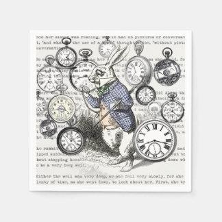 White Rabbit Time Alice in Wonderland Disposable Serviette
