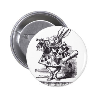 White Rabbit Trumpet 6 Cm Round Badge