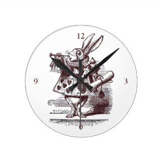 White Rabbit Wall Clock