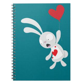 White Rabbit with Balloon - Notebook