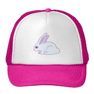 White Rabbit With Long Ears Art Cap