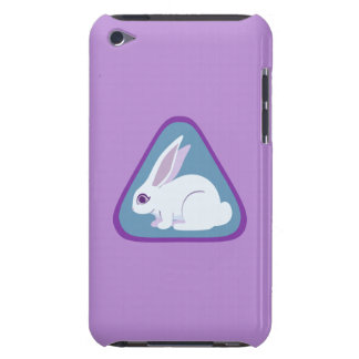 White Rabbit With Long Ears Triangle Art Barely There iPod Covers