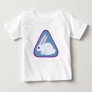 White Rabbit With Long Ears Triangle Art Shirts