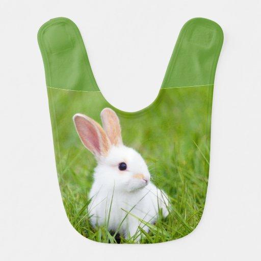 White Rabbit Baby Bib
