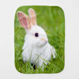 White Rabbit Baby Burp Cloth