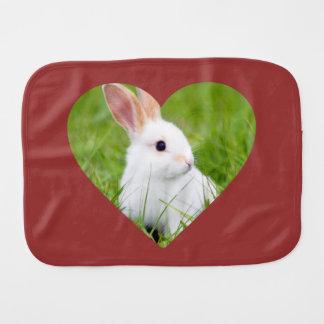 White Rabbit Burp Cloth