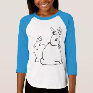White Rabbits Girls' Raglan T-Shirt