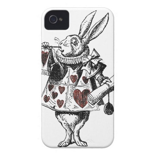 White Rabbits of Hearts - Alice in Wonderland Case-Mate iPhone 4 Cases