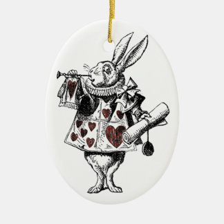 White Rabbits of Hearts - Alice in Wonderland Christmas Ornament