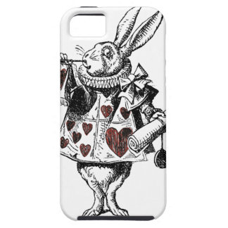 White Rabbits of Hearts - Alice in Wonderland Tough iPhone 5 Case