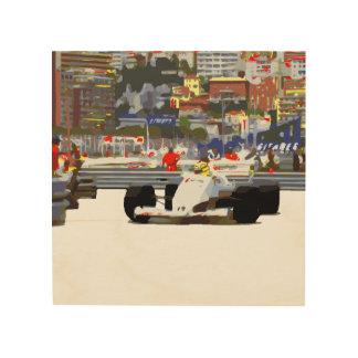 WHITE RACE CAR - City Circuit Wood Wall Decor