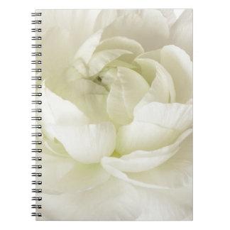 White Ranunculus High Key Flower Template Custom Notebook